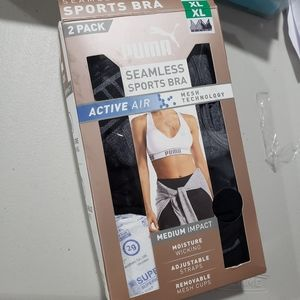 Puma Seamless Sports Bras, 2 pack
